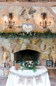 Bride & Groom Table at Fire Place