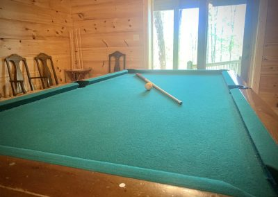 Flame pool table